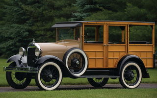 Картинка Ford Model A Woody Station Wagon '1929