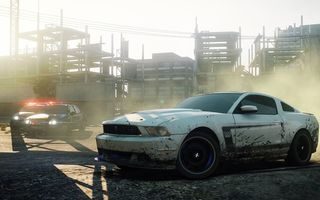 Картинка need for speed most wanted 2, гонка, полиция, автомобиль, Ford Mustang Boss 302, погоня