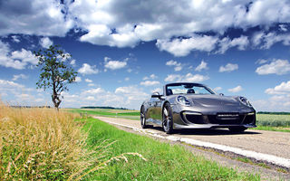 Картинка Porsche, Gemballa, Cabriolet, Carererra-S, 991, Grass, Tuning, GT, Colouds, Sky