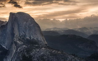 Обои Glacier Point, Grand, Sierras, Yosemite Valley, Halfdome, Sunrise, природа, Northern California, National Park, горы, NorthPines, California, пейзаж