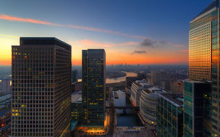 Картинка sunset, city, london, river