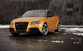 Обои Schwabenfolia, Gold Orange, car, Audi, передок, RS3, тюнинг, машина, Spirtback