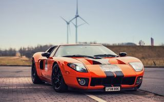 Обои Ford, cars, hd, оранжевый, supercar, car, auto, GT, orange, Форд, машина