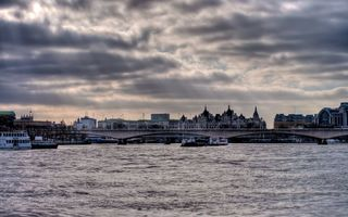 Обои Waterloo Bridge, London, England, thames, uk, Лондон, Англия