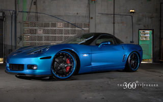 Картинка Chevrolet, Z06, blue, 360 three sixty forged, Corvette
