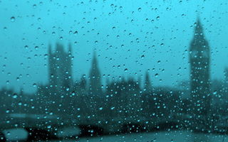 Обои город, капли, дождь, Westminster on a rainy day from the London eye