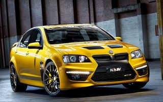 Картинка Car, Желтая, Передок, GTS, 2012, holden HSV, Обоя, E-Series, Yellow, Автомобиль, Машина