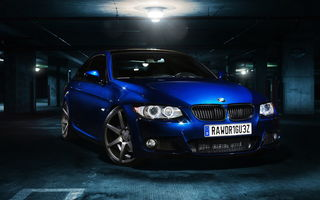 Обои bmw, matte, blue, e92, 335i, graphite