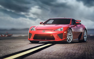 Обои Lexus, front, LFA, красный, red, лексус, Alex Murtaza, red