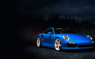 Картинка Porsche, William Stern, blue, 991, 911