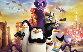 Картинка Пингвины Мадагаскара, Прапор, Ковальски, Penguins of Madagascar, Classified, Рико, бинокль, осьминог, Шкипер, Corporal, мультфильм, Kowalski, Skipper