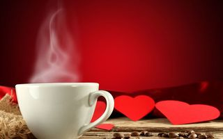 Картинка coffee, mug, cup, red, love, valentine