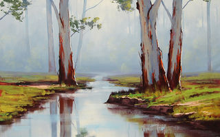 Обои ARTSAUS, RED RIVER GUMS AUSTRALIA, РИСУНОК, АРТ