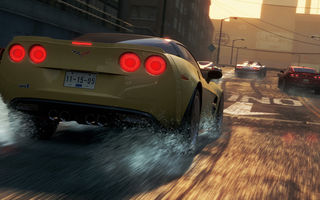 Обои need for speed most wanted 2, chevrolet corvette, гонка, еа, супркары, город