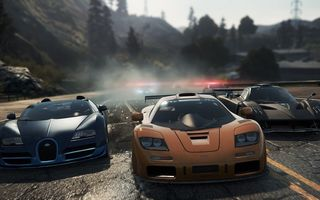 Обои need for speed most wanted 2012, гонка, Veyron Grand Sport Vitesse, спорткары, Zonda R, McLaren F1, дорога