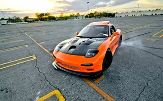 Картинка style, mazda, shift, drift, jdm, orange, tuning, автомобиль, japan, rx7, Car
