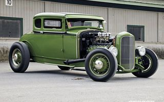 Обои Ford, Hod Rod, cars, green