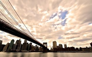Обои manhattan, нью йорк, brooklyn bridge, бруклинский мост, New york