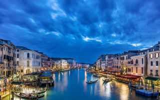 Обои italy, venice, grand canal from rialto bridge