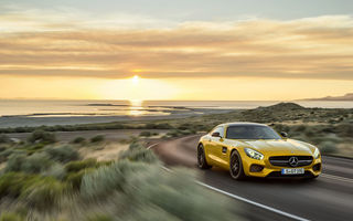 Обои солнце, amg, gt, sunset, 2015, mercedes-benz, coupe