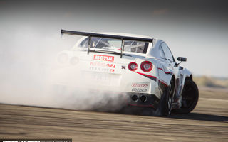 Картинка nissan, дрифт, дым, speedhunters, nismo-gt, the worlds fastest drift car