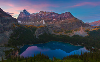 Обои british columbia, lake ohara, yoho national park