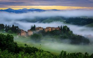 Картинка italy, morning, tuscan
