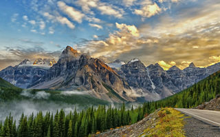 Обои canada, mount babel, on the road to lake moraine, valley of the ten peaks, banff national park, alberta