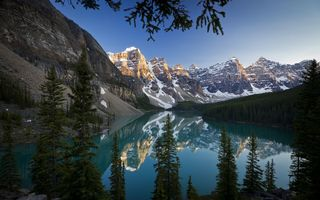 Картинка пейзаж, moraine lake, banff national park