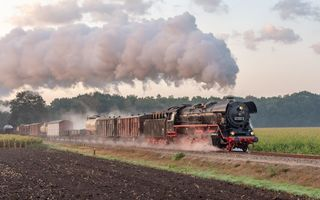 Обои паровоз, railroad, train, Apeldoorn, steam, Netherlands, grass, Guelders, locomotive
