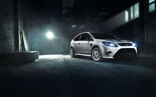 Картинка Ford, Race, Front, Focus, White, RS, Car