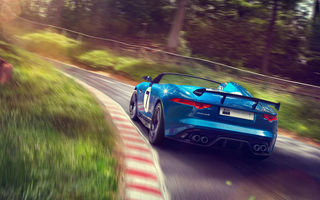 Картинка Project 7, speed, Jaguar, supercar, Concept, auto, road, car, blue