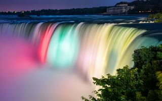 Обои водопад, Канада, Ниагара, Niagara Falls Colors