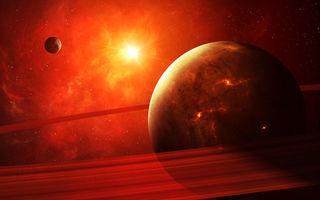 Картинка planet, Sci Fi, apocalypse, light, red