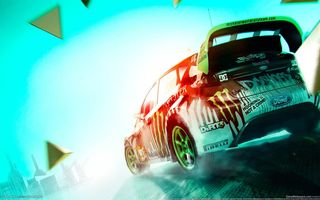 Картинка colin mcrae, ford, dirt 3, fiesta, monster energy