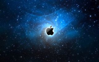 Обои hi-tech, mac, apple, space