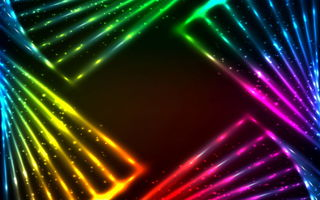 Картинка colors, abstract, vector, lights, rainbow