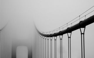 Обои San Francisco, california, city, Golden Gate Bridge, 2560x1600, туман, bridge, город, fog, мост