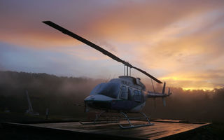 Картинка Morning, Jungle, Chopper, PNG, Scene, Helicopter, Sunrise, Bell, 206, Longranger