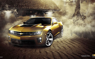 Картинка Car, Eagle, Muscle, Gold, ZL1, Chevrolet, Camaro