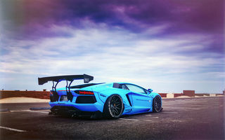 Обои LP700-4, Blue Shark, Aventador, Liberty Walk Performance, Lamborghini