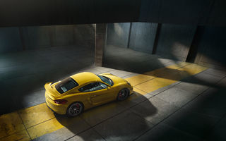 Обои Porsche, Top View, Yellow, Supercar, 2015, GT4, Parking, Cayman