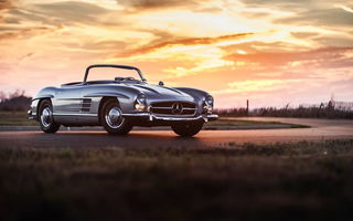 Картинка mercedes 300sl, retro, car, классика