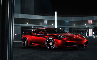 Обои Chrome, Color, F430, Ferrari, Red, Front, Supercar