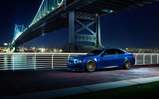 Обои BMW, E92, Vossen Wheels, blue, brige