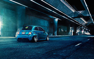 Обои Matte, Blue, Abarth, Brushed, 500, Rear, F132, Fiat