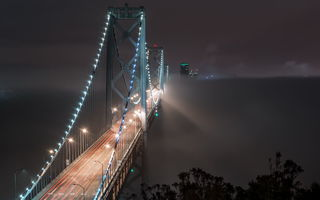 Обои Bay Bridge, Fog Bound, San Francisco