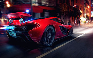Обои Mclaren, Glow, Street, Tuning, Lights, Spoiler, Hypercar, Motion, Sportcar, P1, Night, Concept, Supercar