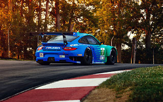 Обои Porsche, Spoiler, Track, Sportcar, Widebody, GT3, Competition, Team, RSR, Falken, Trees, 911