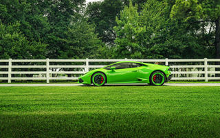 Обои ADV.1, Side, LP610-4, Green, Supercar, Wheels, Huracan, Lamborghini, Color